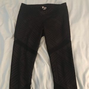 Old navy workout pants with mesh detail